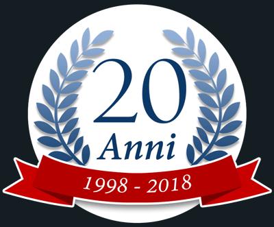 coccarda aniversario 20 anni